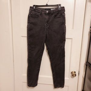 Aeropostale washed black high rise jean jeggings